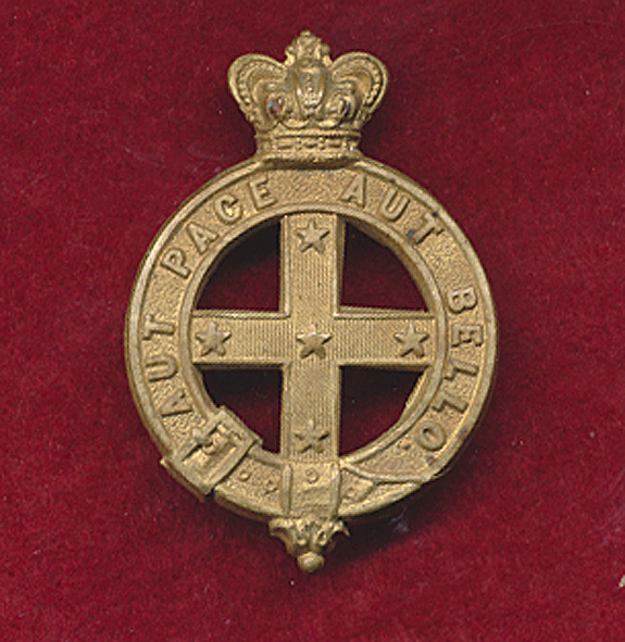 Victorian Military Forces - Hat / Glengarry Badge (ca1884)
