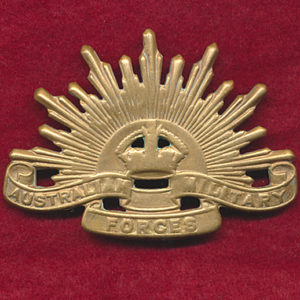 Hat Badge - G.S. Rising Sun (AMF) (AMOR)
