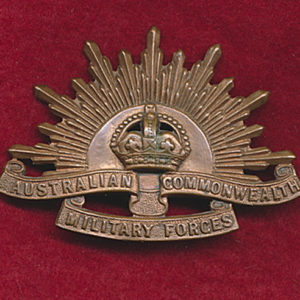 Hat Badge - G.S. Rising Sun (ACMF) (STOKES)