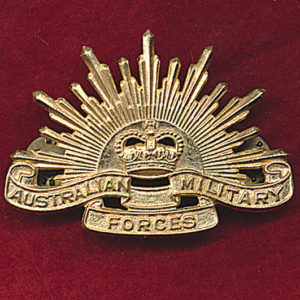 Hat Badge - G.S. Rising Sun (AMF) (S&H)