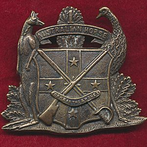 1st Australian Volunteer Horse Hat Badge (1897-1903) (#1)